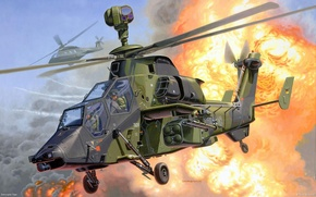 Picture figure, art, helicopter, tiger, eurocopter