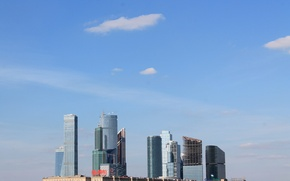 Picture summer, the sky, city, the building, Moscow, August, 2016