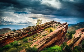 Picture landscape, Colorado, Red Rocks