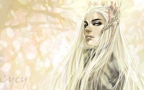Picture trees, background, elf, crown, the Lord of the rings, art, the lord of the rings, …