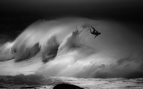 Picture sea, ocean, surfing, surf, wave, surfer, extreme sport