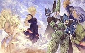 Picture game, Dragon, fighter, anime, asian, warrior, manga, japanese, Son Goku, oriental, asiatic, Vegeta, Japanese, Goku, …
