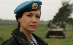 "Wallpaper very beautiful actress, military., Ekaterina Klimova, the film ""Second wind"" 2008. genre action"