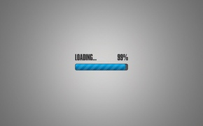 Picture grey background, loading, download, 99%