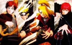 Picture Anime, Naruto, Gaara, Deidara, Sasori