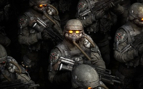 Wallpaper weapons, Killzone, Soldiers