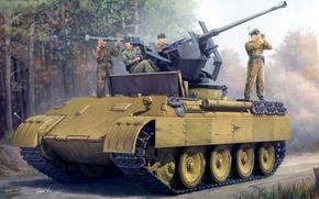 Picture Figure, Panther, Sd.Car. 171, Panther, PzKpfw V, German, Self-propelled, Panzerkampfwagen V, Flak 18, Medium-heavy tank, …