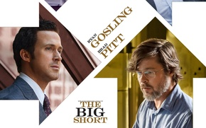 Picture Brad Pitt, Rayn Gosling, The Big Short, Shorting