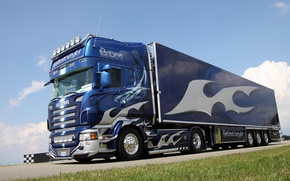 Picture tuning, vinyl, tractor, Scania, R620