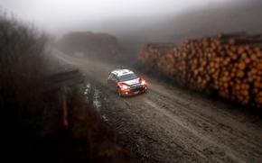 Picture Forest, Dirt, Citroen, Lights, Tilt-Shift, DS3, WRC, Rally, Rally, Overcast