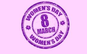 Wallpaper March 8, women's day, congratulations
