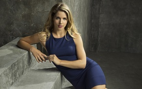 Picture girl, pose, makeup, dress, hairstyle, blonde, stage, the series, Arrow, Arrow, Emily Bett Rickards, Felicity …