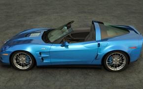Picture Chevrolet, art, corvette, convertible, zr1, outdoors, dangeruss