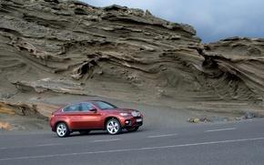 Wallpaper road, mountains, BMW