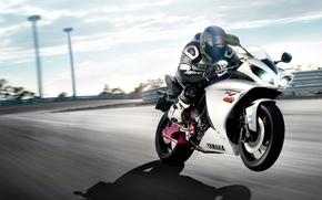 Wallpaper speed, motorcycle, Yamaha