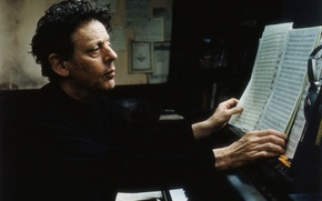 Picture genius, musician, composer, Philip Glass