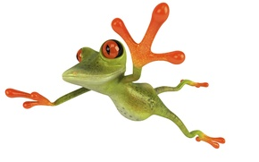 Picture flight, jump, graphics, frog, Free frog 3d