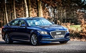 Picture Hyundai, UK-spec, Genesis, 2015, Hyundai