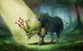 Picture art, willpheonix, Elemental Rhino