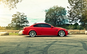 Picture BMW, BMW, profile, red, e92, The 3 series