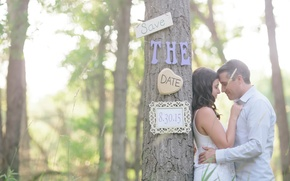 Picture lovers, save the date, engagement, Commitment