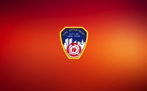 Picture RED, SHIELD, LOGO, FDNY