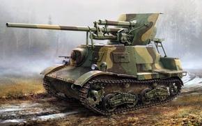 Picture figure, art, ZIS-30, Soviet light tank destroyer