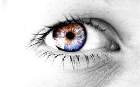 Wallpaper eyes, grey, color
