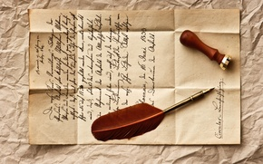 Picture letter, retro, pen, line, vintage, vintage, stamp