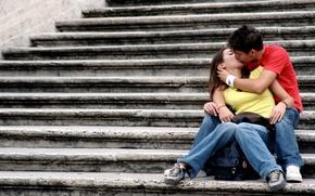 Wallpaper love, girls, mood, tenderness, feelings, friendship, steps, love, guys, relationship, girls, kiss, mood, kisses, attachment, ...