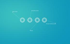 Wallpaper Circles, minimalism, creative, void, picture, Wallpaper