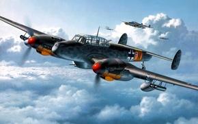 Wallpaper Bf-110, Me-110, Messer Schmit