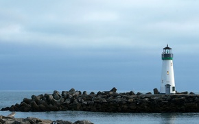Picture sea, stones, shore, boat, lighthouse, sea, coast, rocks, national geographic, boat, lighthouse