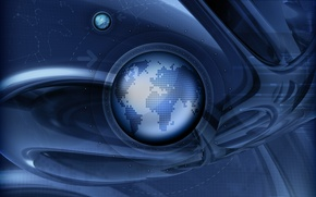 Wallpaper earth, planet, trajectory