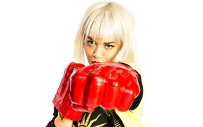 Wallpaper pose, gloves, singer, Rita Ora, Rita Ora