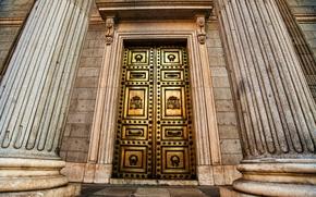Wallpaper door, Golden Gate, columns