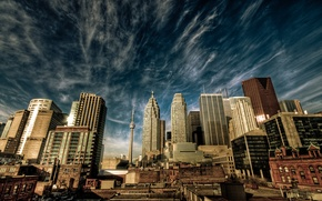 Picture the sky, clouds, the city, home, Canada, Toronto