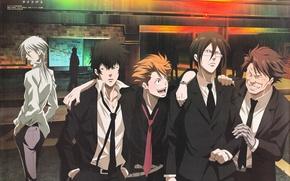 Picture Psycho-pass, Kougami, Makishima, Masaoka, Kagari, Ginoza