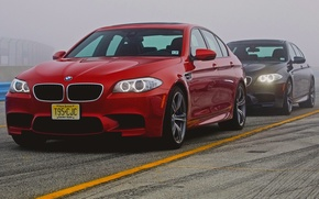 Picture Fog, Red, Black, Machine, Red, Lights, Car, 2012, Car, Beautiful, Black, Bmw, Wallpapers, New, F10, ...