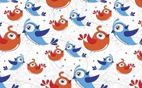 Picture vector, texture, birds, CMYK