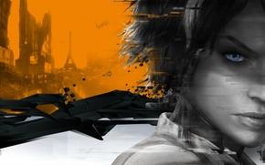 Picture orange, future, fiction, Remember Me, Capcom, Nilin, Paris 2084