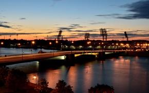 Picture night, Saint Petersburg, bridges, ShennikovSV, Tuchkov bridge, embankments