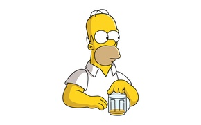 Picture the simpsons, beer, look, pose, Homer, Homero