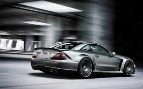 Picture Mercedes-Benz, Car, Speed, AMG, Rear, SL 65