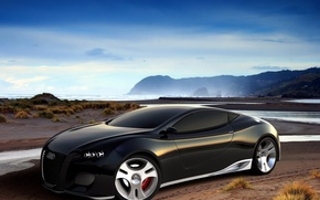 Wallpaper shore, the concept, AUDI
