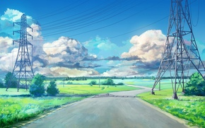 Picture road, the game, anime, arsenixc, everlasting summer, endless summer