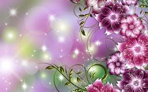 Picture flowers, figure, petals