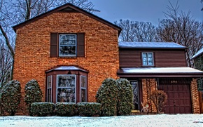 Picture winter, snow, house, Christmas