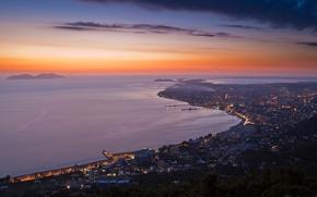 Picture the evening, Albania, Vlora