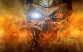 Picture Robot, Fire, Terminator, 101, 800, Systems, series, Cyberdyne